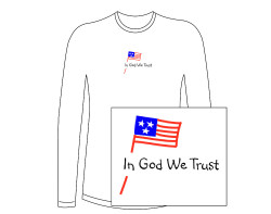 Women's In God We Trust Long Sleeve Tee