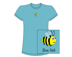 Bee Still Short Sleeve Tee – Aqua