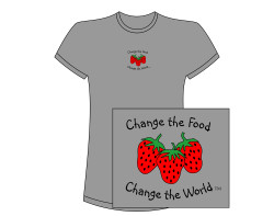Women's Change the Food, Change the World S/S Tee – Heathered Gray