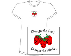 Women's Change the Food, Change the World Short Sleeve Tee – White