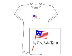 Women's In God We Trust Short Sleeve Tee – White