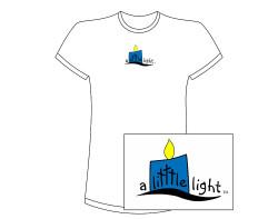 Women's A Litttle Light Short Sleeve Tee – Blue Logo