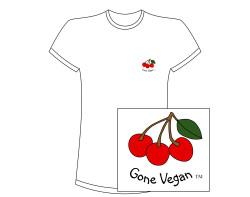 """Women""""s Gone Vegan Short Sleeve Tee -Small Design"""